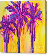 Magenta Palm Trees Canvas Print
