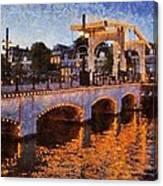 Magere Brug Bridge In Amsterdam Canvas Print
