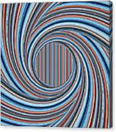 Magic Colorful Abstract Twisted Background Canvas Print