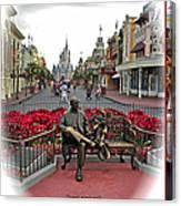 Magic Kingdom Walt Disney World 3 Panel Composite Canvas Print