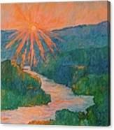 Magic Light At Carvins Cove Canvas Print