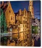 Magic Of Bruges Canvas Print