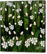 Magical Blooms Of The Deep Forest Canvas Print