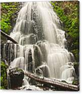 Magical Falls - Fairy Falls In The Columbia River Gorge Area Of Oregon Canvas Print