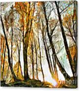 Magical Forest - Drawing Canvas Print