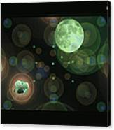 Magical Moonlight Clover Canvas Print