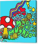 Magical Mushroom Pop Art Canvas Print