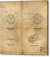Magneto System Blueprint Canvas Print