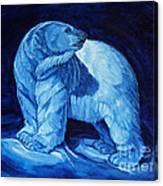 Polar Bear Art Blue Prince Lord Of The North Canvas Print