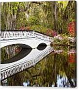 Magnolia Gardens' Bridge Canvas Print