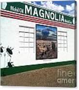 Magnolia Mobil Gas Canvas Print