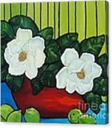 Magnolia Twins Canvas Print