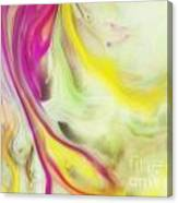 Magnolia Watercolor Abstraction Painting Canvas Print