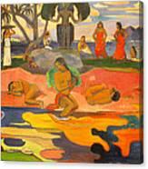 Mahana No Atua Aka. Day Of The Gods Canvas Print