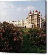 Maharaja's Palace And Garden India Mysore Canvas Print