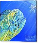 Mahi Mahi And Flying Fish Canvas Print