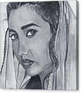 Mahira Khan Canvas Print