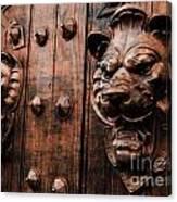Mahogany Lion Heads Canvas Print