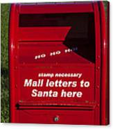 Mail Letters To Santa Here Canvas Print
