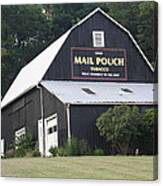 Mail Pouch Barn And Two Foxes Canvas Print