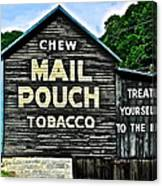 Mail Pouch Chew Canvas Print