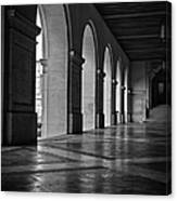 Main Building Arches University Of Texas Bw Canvas Print