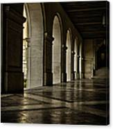 Main Building Arches University Of Texas Canvas Print