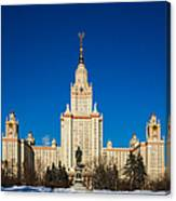 Main Building Of Moscow State University On Sparrow Hills Canvas Print