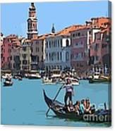 Main Canal Venice Italy Canvas Print