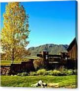 main gate to Marabou ranch Canvas Print