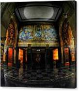 Main Lobby Of City Hall Buffalo Ny Rear Canvas Print