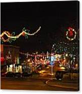 Main St. Christmas Lights Canvas Print