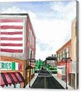 Main St. Is White-washed Windows And Vacant Stores Canvas Print