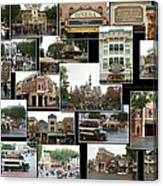 Main Street Disneyland Collage 02 Canvas Print