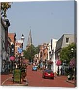 Main Street In Downtown Annapolis Canvas Print