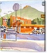 Main Street In Morning Shadows Canvas Print