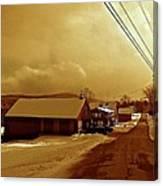 Main Street In Mountain Village Canvas Print