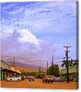 Main Street Kaunakakai Canvas Print