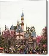 Main Street Sleeping Beauty Castle Disneyland 02 Canvas Print