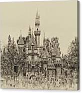 Main Street Sleeping Beauty Castle Disneyland Heirloom 01 Canvas Print