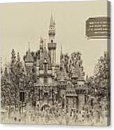 Main Street Sleeping Beauty Castle Disneyland Heirloom 03 Canvas Print