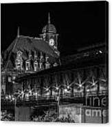 Main Street Station In Black And White Canvas Print