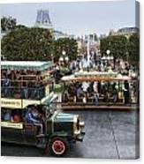 Main Street Transportation Disneyland Canvas Print