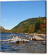 maine 1 Acadia National Park Jordan Pond in Fall Canvas Print