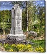 Maine At Gettysburg - 5th Maine Volunteer Infantry Regiment Just North Of Little Round Top Canvas Print
