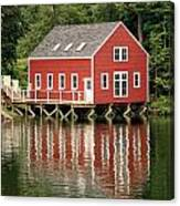 Maine Boat House Canvas Print