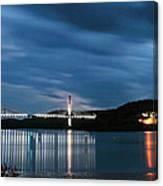 Maine Bridge And Fort Knox  Canvas Print