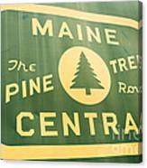 Maine Central The Pine Tree Route Canvas Print