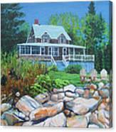 Maine Cottage Canvas Print