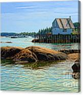Maine Fishing Port Canvas Print